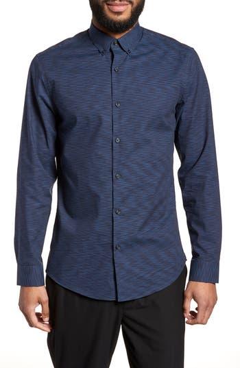 Calibrate Trim Fit Solid Sport Shirt, Blue