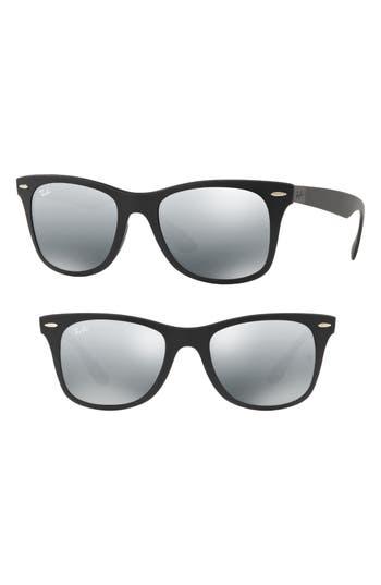 Ray-Ban Wayfarer Liteforce 52Mm Sunglasses - Matte Black