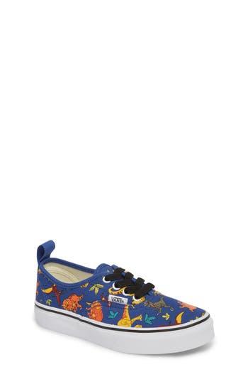 Boys Vans Authentic Elastic Lace Sneaker Size 1 M  Blue
