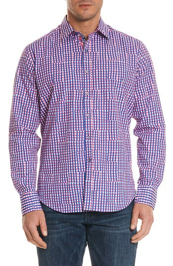 Men's Robert Graham Perez Classic Fit Gingham Sport Shirt