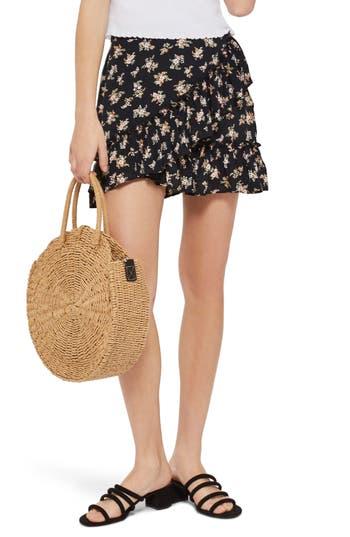 Topshop Ditsy Frill Miniskirt, US (fits like 0) - Black