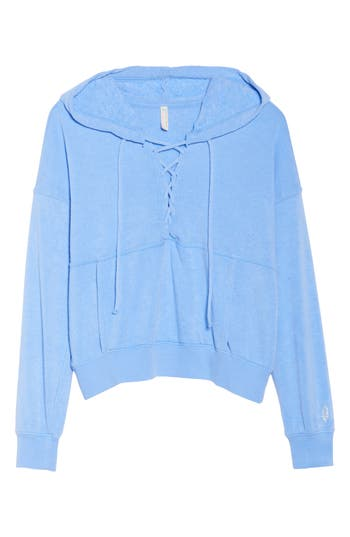 Free People Fp Movement Believer Hoodie, Blue