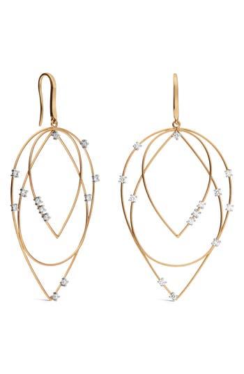 Lana Solo Medium 3-Tier Hoop Earrings
