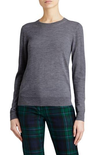Burberry Viar Merino Wool Sweater, Grey