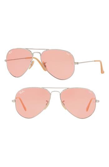 Ray-Ban 5m Polarized Photochromic Aviator Sunglasses - Pink