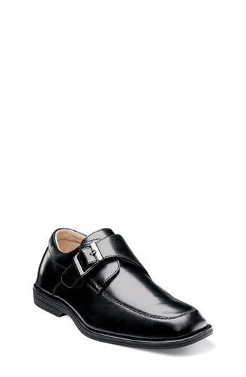 Boys Florsheim Reveal Monk Strap SlipOn Size 5.5 M  Black
