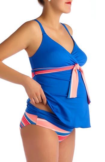 Pez D'Or Devon Striped Two-Piece Maternity Swimsuit