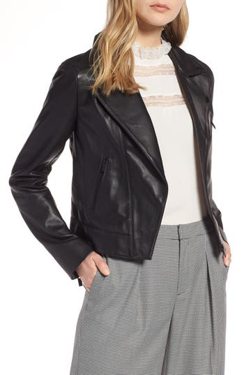 Halogen Leather Moto Jacket on Nordstrom Anniversary Sale