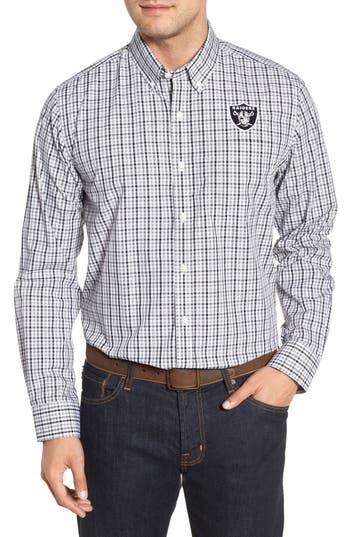 Men's Cutter & Buck Oakland Raiders - Gilman Regular Fit Plaid Sport Shirt