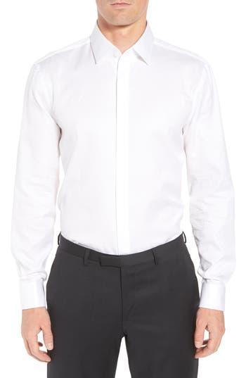BOSS Myron Sharp Fit Tuxedo Shirt
