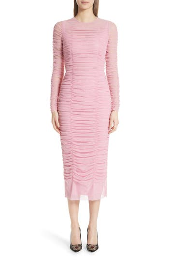 Dolce&Gabbana Ruched Tulle Body-Con Dress