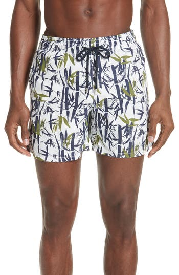 Vilebrequin Bamboo Song Print Swim Trunks, White
