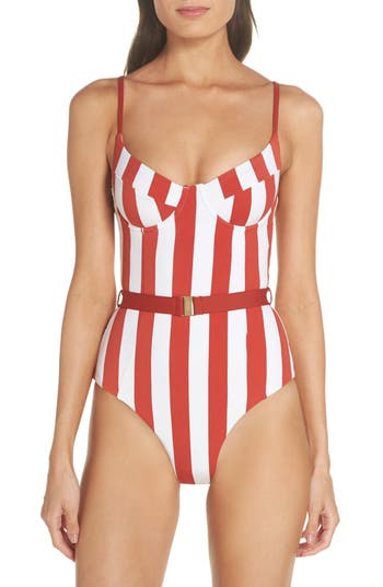 Onia Danielle One-Piece Swimsuit, Red