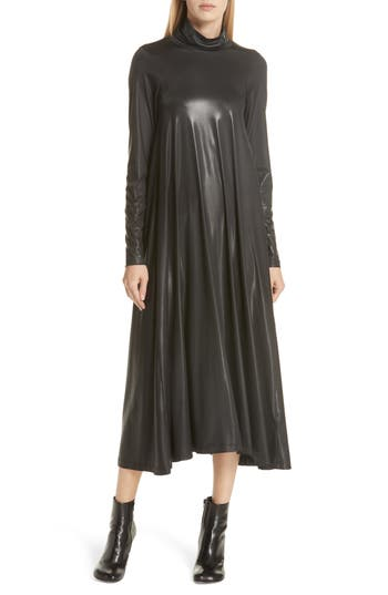 MM6 MAISON MARGIELA COATED TURTLENECK DRESS