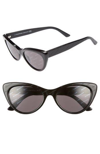 Balenciaga 5m Cat Eye Sunglasses - Black/ Smoke