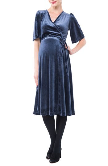 Nom Maternity Genevieve Velvet Maternity/Nursing Dress