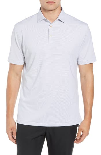 Peter Millar Halford Classic Fit Stripe Stretch Golf Polo