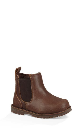 Boys Ugg Callum Water Resistant Chelsea Boot Size 4 M  Brown