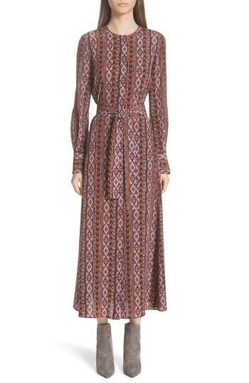 Lafayette 148 New York Coleen Belted Silk Midi Dress