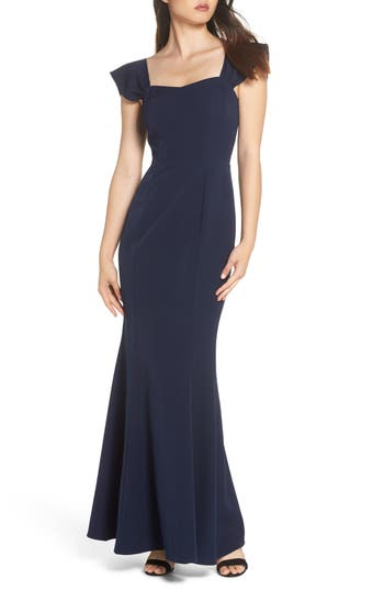 WAYF THE LUCY STRAPLESS TRUMPET GOWN
