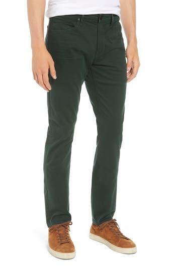 Men's Paige Lennox Slim Fit Five-Pocket Pants, Size 32 - Green