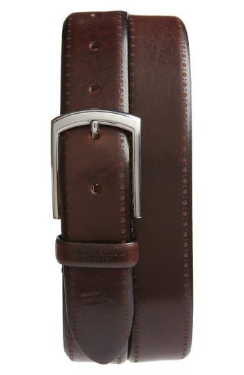 Ted Baker London Burnished Brogue Leather Belt
