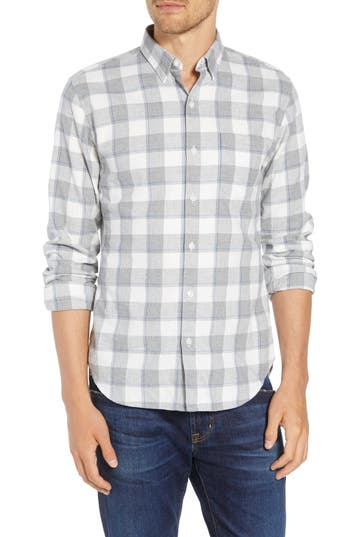 Bonobos Brushed Button Down Slim Fit Plaid Sport Shirt