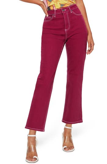 Topshop Cassis Straight Leg Jeans