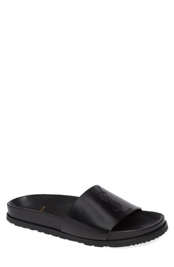 Saint Laurent Jimmy Logo Slide Sandal