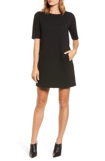 Halogen® Textured Elbow Sleeve Tunic Dress
