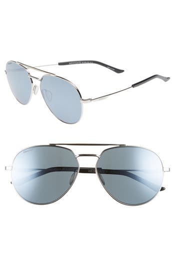 WESTGATE 60MM CHROMAPOP(TM) POLARIZED AVIATOR SUNGLASSES - SILVER/ PLATINUM