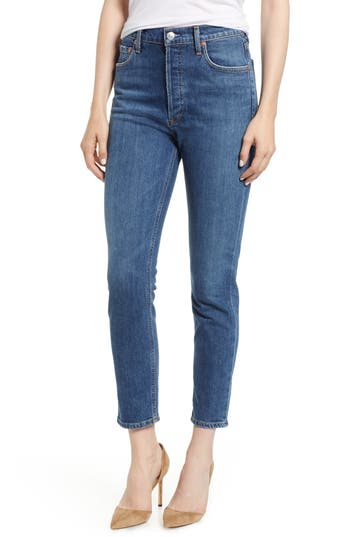 AGOLDE Nico High Waist Crop Slim Fit Jeans
