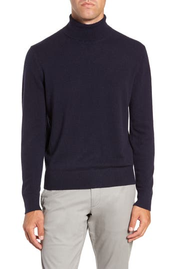 Men's Todd Snyder + Champion Classic Fit Cashmere Turtleneck, Size Small - Blue