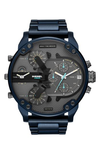 DIESEL® Mr. Daddy 2.0 Chronograph Bracelet Watch, 57mm