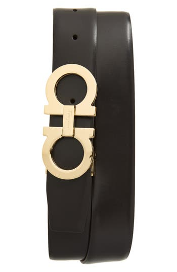 Salvatore Ferragamo Panini Double Gancio Leather Belt