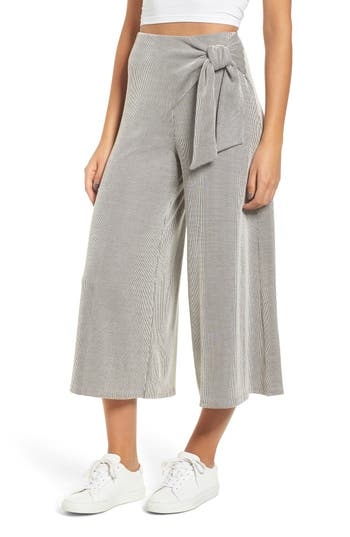 All in Favor Crop Wide Leg Ribbed Pants