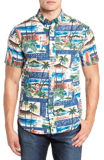 Reyn Spooner Hawaiian Christmas 2018 Tailored Fit Sport Shirt