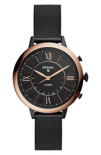 Fossil Q Jacqueline Mesh Strap Hybrid Smart Watch, 36mm