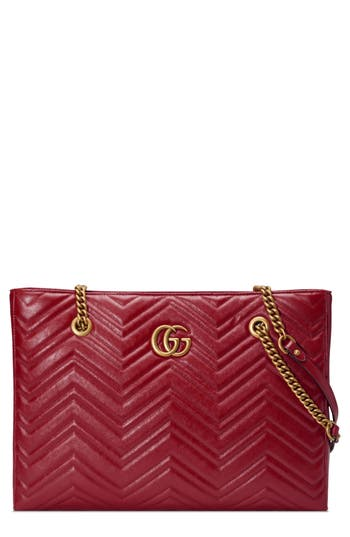 Gucci GG Marmont 2.0 Matelassé Medium Leather East/West Tote Bag