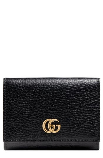 Gucci Petite Marmont Leather French Wallet
