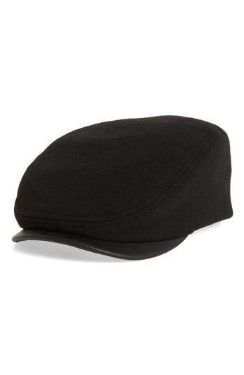Crown Cap Melton Ivy Cap with Leather Visor