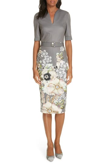 Ted Baker London Wendala Gem Gardens Body-Con Dress