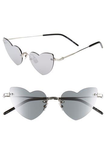 Saint Laurent 50mm Rimless Heart Shaped Sunglasses