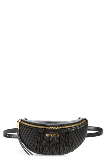Miu Miu Matelassé Lambskin Leather Belt Bag