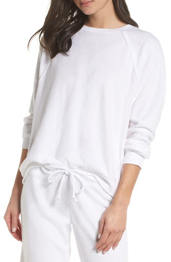 Something Navy Batwing Fleece Pullover
