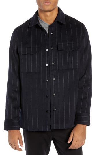 Calibrate Clean Pinstripe Shirt Jacket