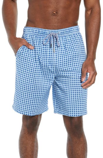 Peter Millar Seaboard Gingham Check Swim Trunks