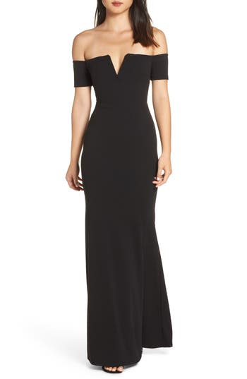 Lulus Lynne Off the Shoulder Gown