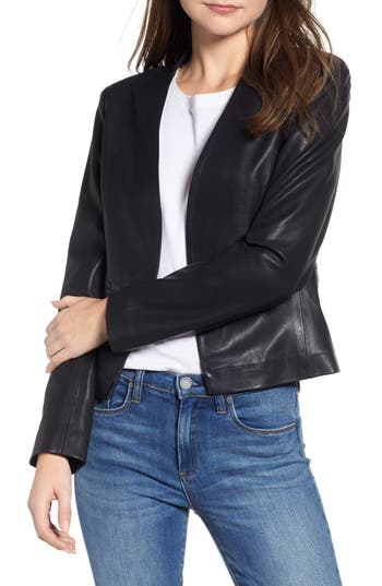 BLANKNYC Faux Leather Blazer