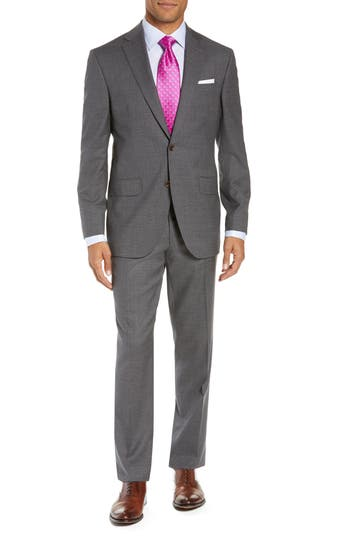 David Donahue Ryan Classic Fit Check Wool Suit